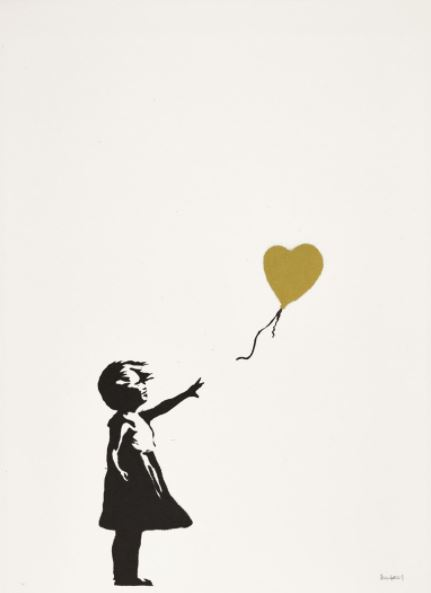 Banksy - Girl with Balloon Gold - Sotheby's London March 2021